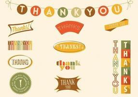 Fall Colored Dank u Kenteken Vector Pack