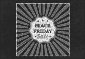 Krijt getekend zwart vrijdag verkoop vector