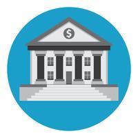 bank gebouw vector pictogram