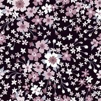 Naadloze bloemmotief. Bloem achtergrond. Floreer behang met bloemen. vector