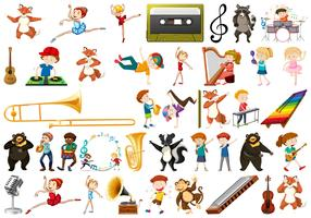 Set van muziekinstrument