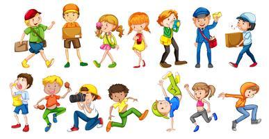 Set van mensen karakter vector