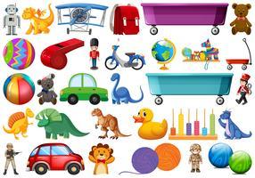 Set van kinderen speelgoed