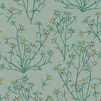 Naadloze bloemmotief. Bloem achtergrond. Floreer behang met bessen en bloemen.