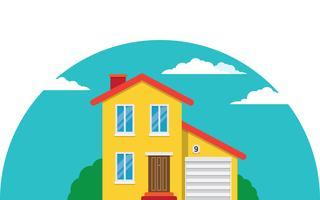 Herenhuis, flat huis vector