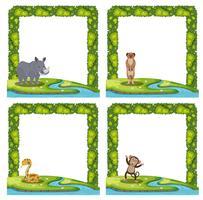 Set van dierlijke frame vector