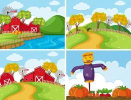 Set van boerderijtaferelen