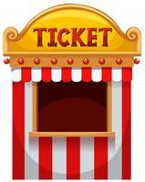 Ticket stand op het carnaval vector