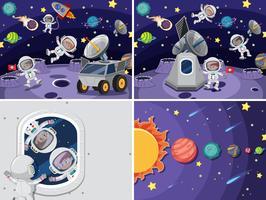 Set van ruimteachtergrond vector