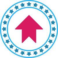 Vector stijgende pijl pictogram