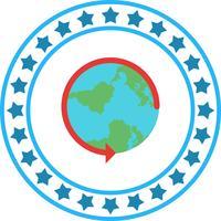 Vector ronde het pictogram van de wereld