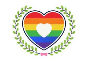 Liefde met regenboog vectorillustratie
