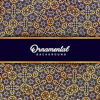 Arabische ornamentachtergrond barok in Victoriaanse stijl. Element f