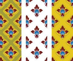 Thais kunstpatroon in traditionele stijl in vector