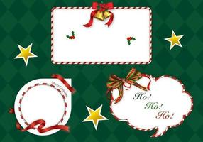 Christmas candy cane label vector pack