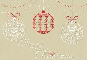 Decoratief Kerst Ornament Vector Achtergrond Pak