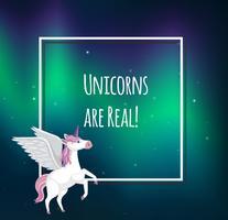 Schattig Pastel Unicorn-tekstsjabloon vector