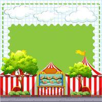 Grensontwerp met spel bij circus vector