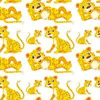 Luipaard op naadloos patroon vector