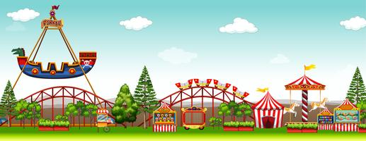 Pretpark met veel attracties vector