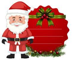 Kerstkaartsjabloon met santa