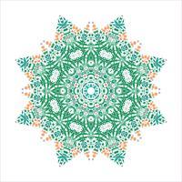mandala Ornament achtergrond. Ronde Vintage decoratieve elementen. vector