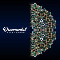 Arabische ornamentachtergrond barok in Victoriaanse stijl. Element voor ontwerp vector