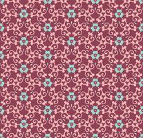naadloze bloemen ornament patroon vectorillustratie vector