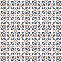 Naadloos abstract bloemenpatroon. symmetrie moderne stijl vector