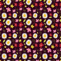 bloem lente naadloze patroon achtergrond
