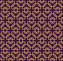 Luxe geometrische patroon. Vector naadloos patroon. Modern lineair