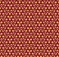 Naadloos vectorornament. Modern modieus geometrisch lineair patroon met gouden kleur