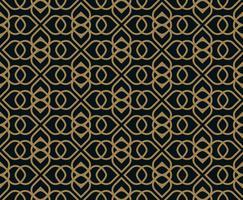 Naadloos patroon. Grafische lijnen ornament. Bloemen stijlvolle backgro