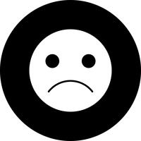 Vector triest Emoji pictogram
