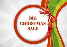 Grote kerst verkoop vector achtergrond