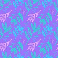 Botanische hand getrokken patroon vector