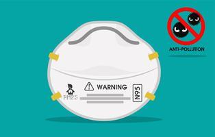 N95-maskers, apparaten voor stofbescherming in de lucht vector