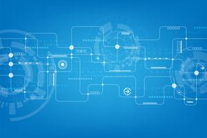 Technologie in de vorm van een elektronisch circuitontwerp. vector