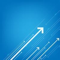 Technologie in de vorm van digitale snelheid. vector