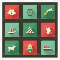 Kerstpictogram vectorpakket