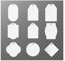 Mockup Product papieren etiket voor logo product Afzonderlijke onderdelen