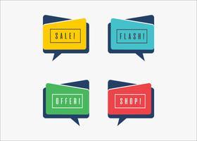 Minimale vector kleurrijke presentatiebanners