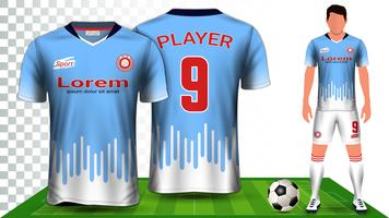 Voetbalshirt, sportshirt of voetbal Kit uniform presentatie mockup sjabloon.