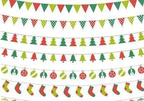 Kerstmis bunting vector pack
