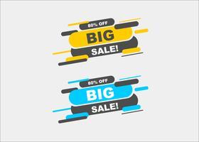 Moderne minimale grote verkoop winkelende banners vector