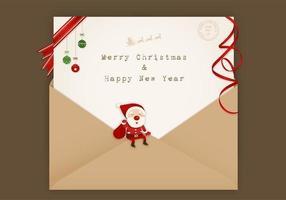 Santa mail vector