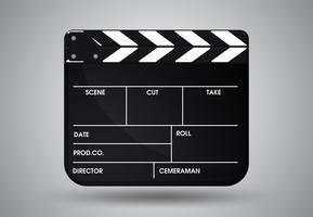 PrintSlate van regisseurfilm. Illustratie Vector EPS10.