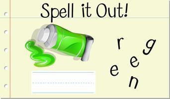 Woord Engels woord groen