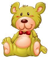 Een gele teddybeer vector