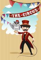 Mens en dier show in circus vector